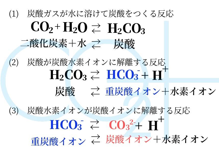 炭酸ガスとイオン